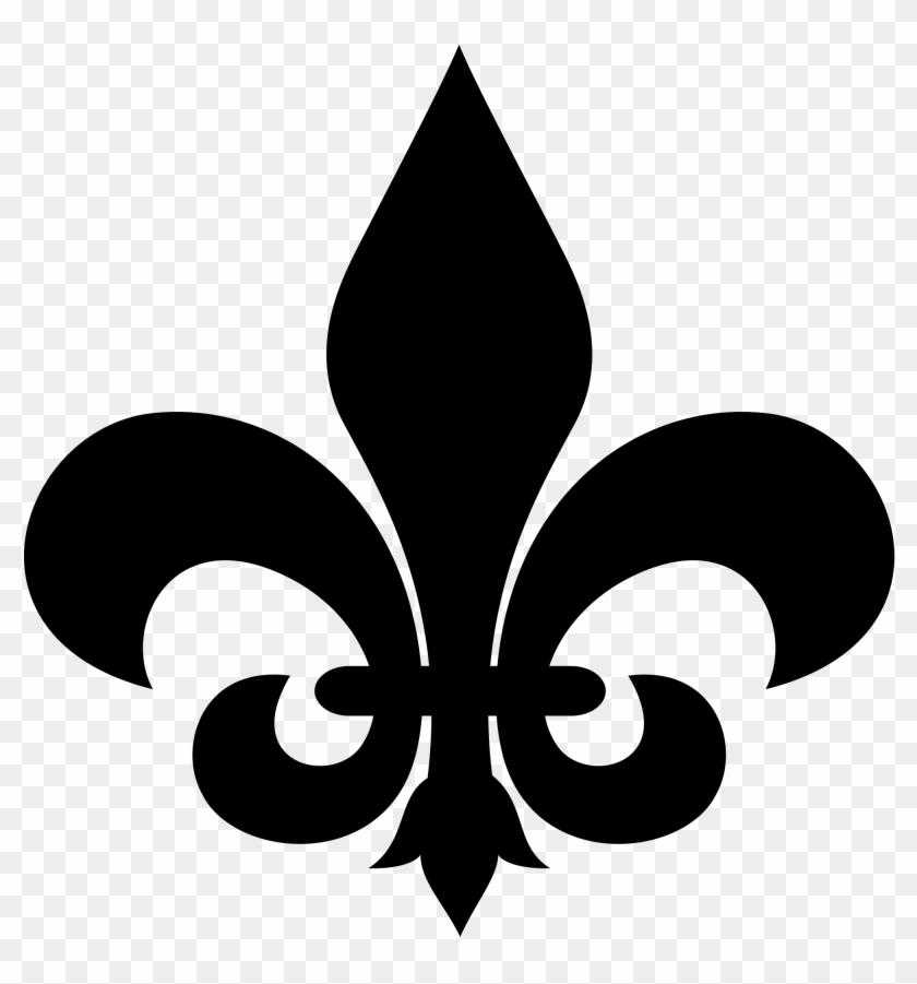 Unique Cub Scout Fleur De Lis Clip Art Medium Size - Fleur De Lis Stencil #34870