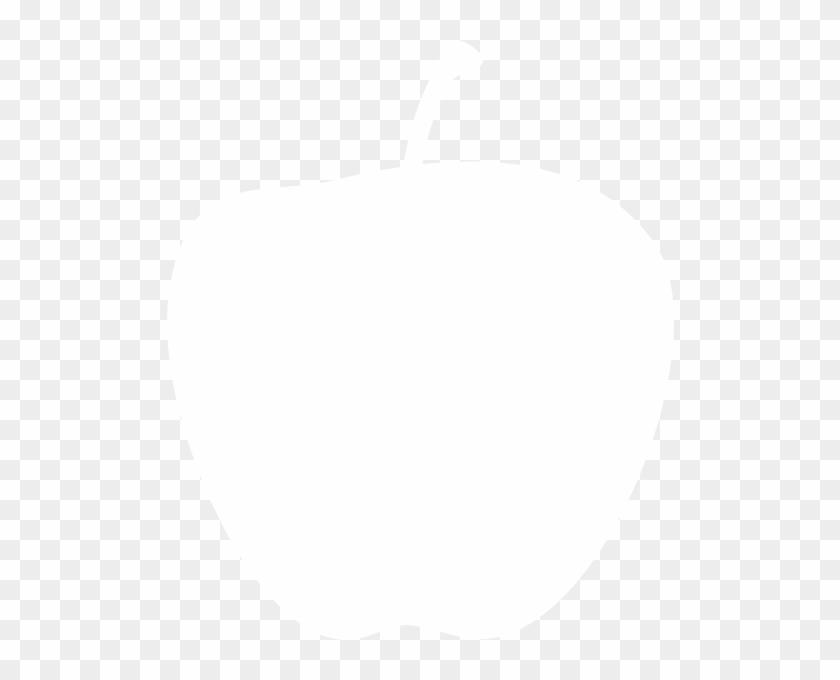 White Apple Clipart #34909