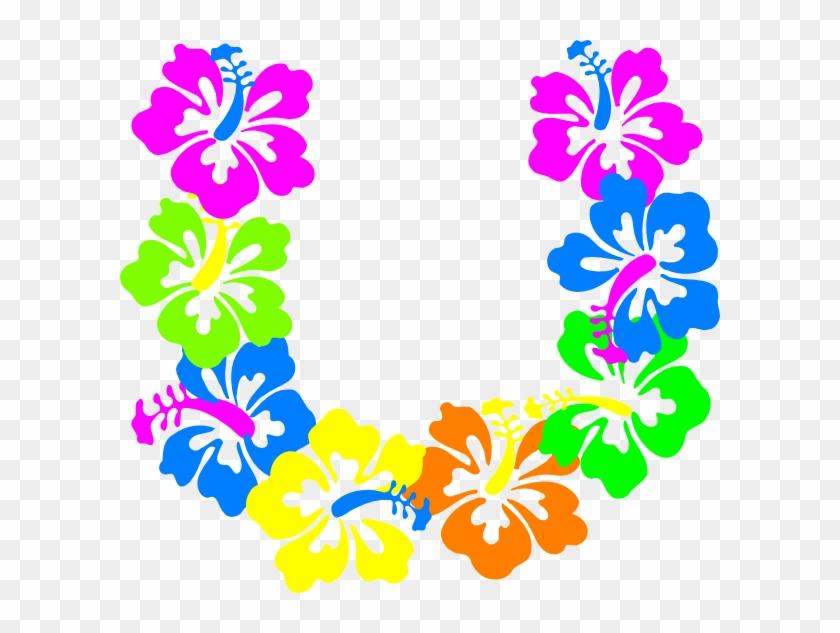 Hawaii Clipart Lei - Flower Lei Clip Art #34924