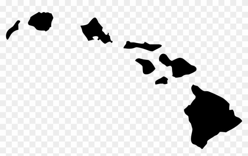 Hawaii Outline Clipart Free - Hawaiian Islands Clip Art #34942