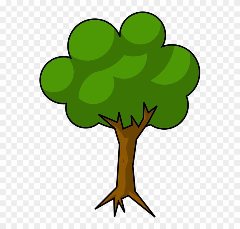 Cel Shading, Minimal, Shaded, Simple - Tree With Shade Clipart #34974