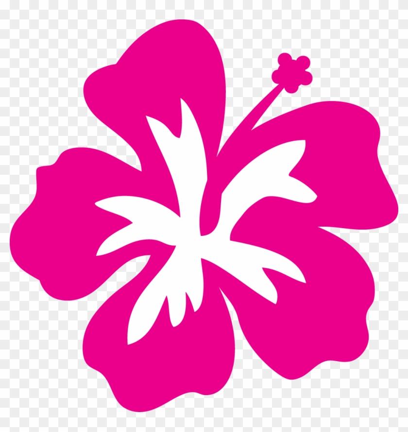 Hawaiian Flower Plumeria Flower Clip Art Clipart Bay - Hibiscus Stencil #34978