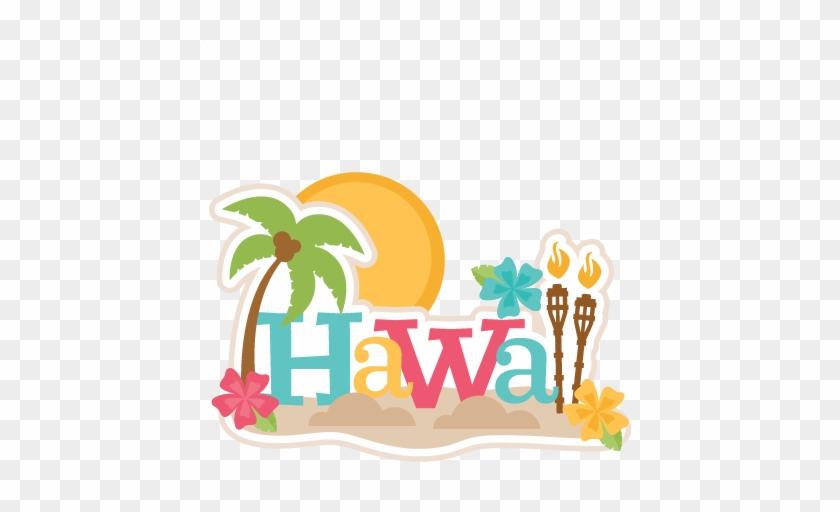 Hawaii Clipart Scrapbook - Hawaiian Vacation Clipart #34987