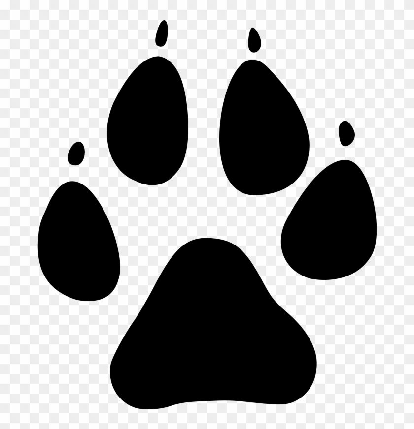 Paw Print Dog Paw Vector Graphic - Dog Paw Print Vector #35151