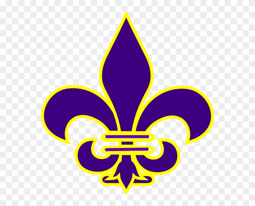 Cub Scouts, Silhouette Projects, Clipart, Art Online, - Purple And Gold Fleur De Lis #35162