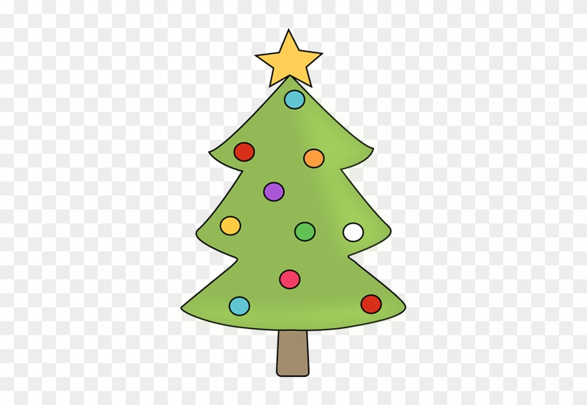Christmas Tree With Colorful Ornaments - Christmas Tree With Ornaments Clipart #35169