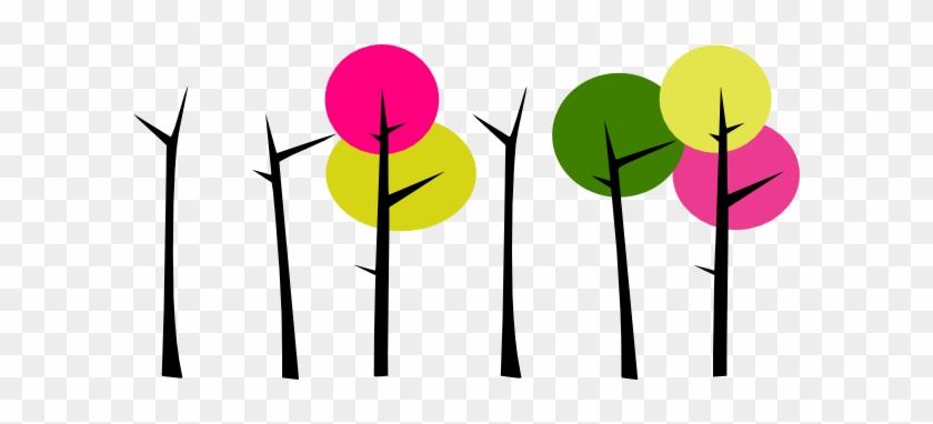Colorful Trees 3 Clip Art - Clip Art #35197