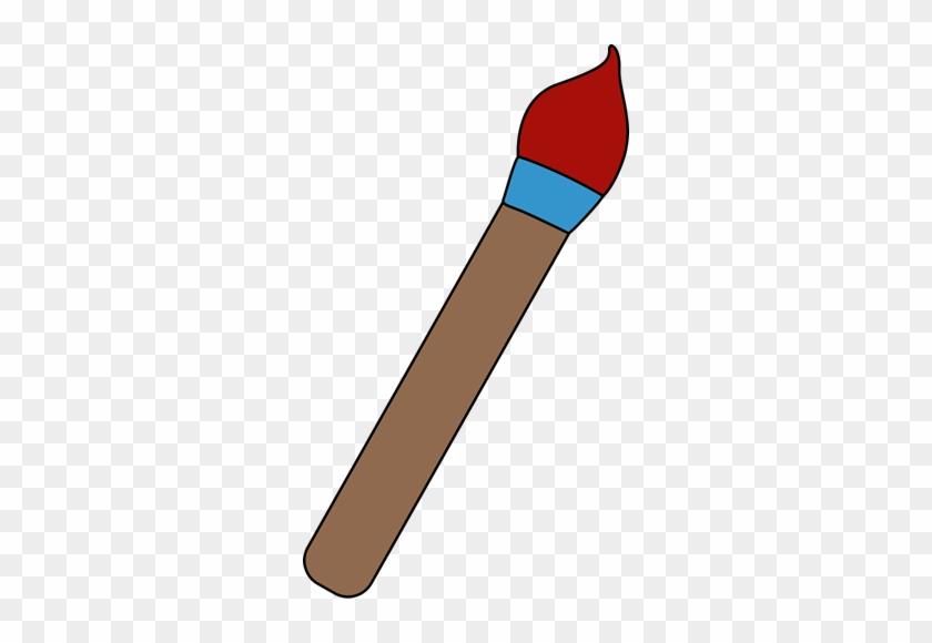 Red Art Paint Brush - Brush My Cute Graphics #35218