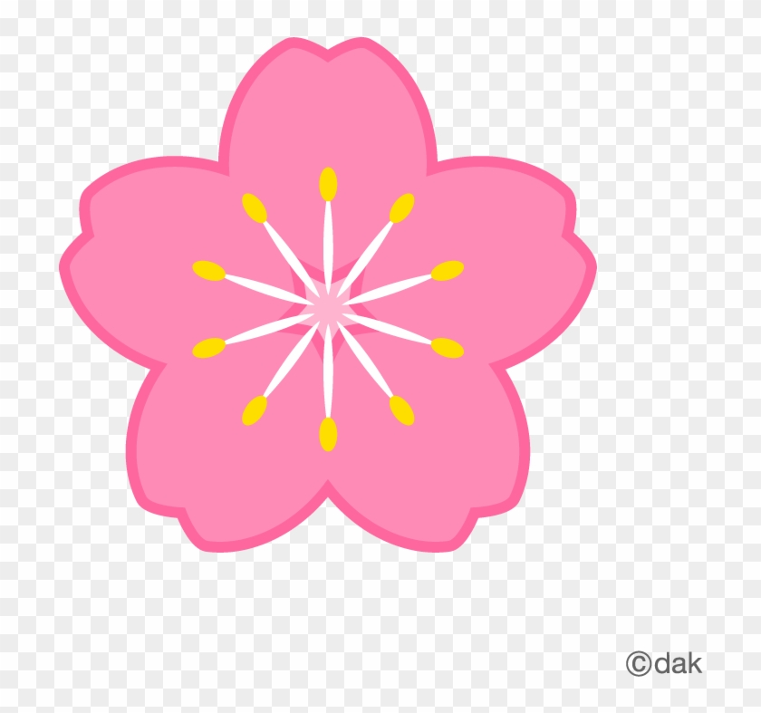 Flower Symbol Of The Cherry Tree|pictures Of Clipart - Different Shapes Of Sequins #35232