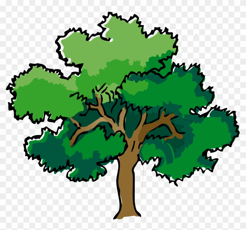 How To Draw Tree - Forest Trees Clipart #35303