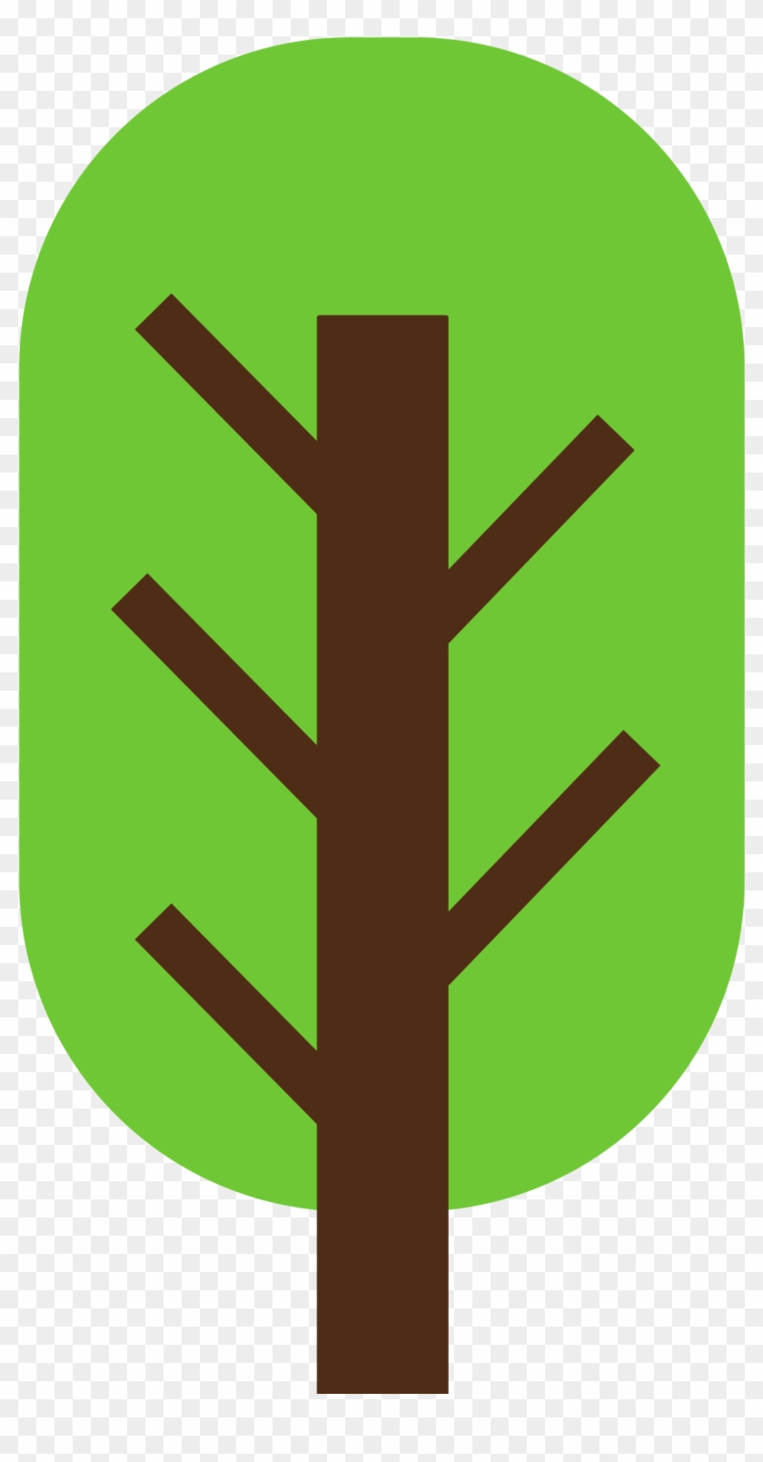 Tree 2 Color Squarish And Geometric - 2 Color #35314