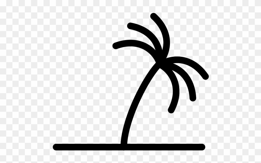 Palm Tree Icon - Palm Tree Line Icon #35334