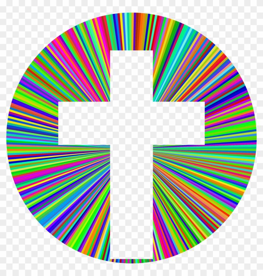 Cross Picture Clipart Prismatic Cross Halo Png - Cross Clip Art Colorful #35360