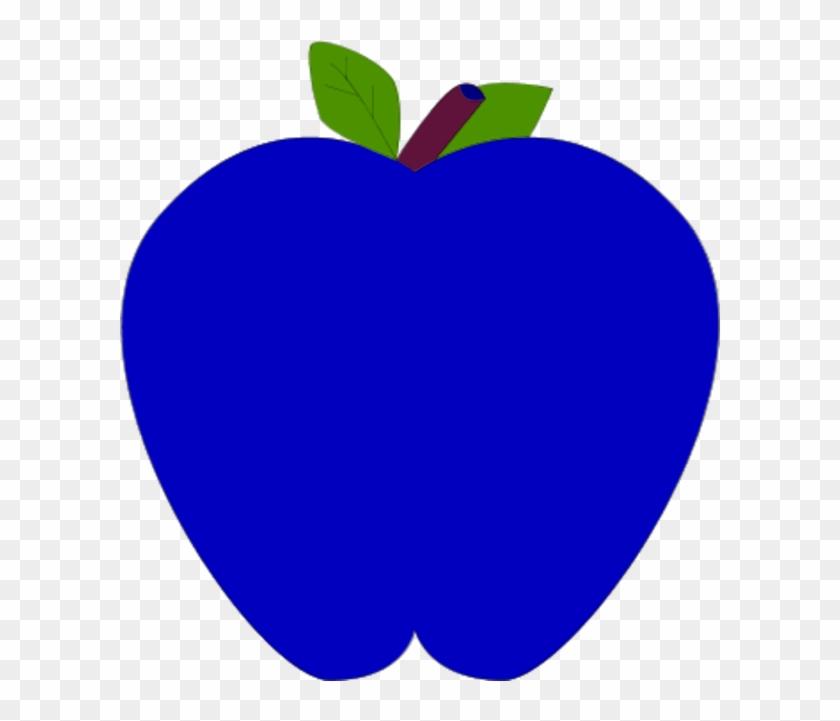 Colorful Apple Clipart - Apple Clip Art Blue #35388