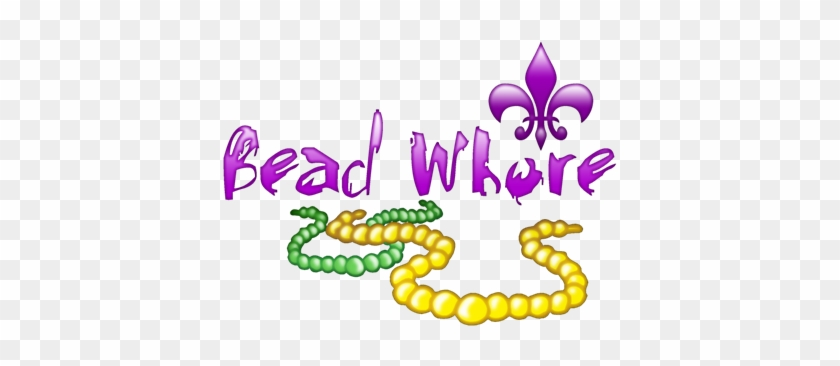 Mardi Gras Bead Whore - Mardi Gras Bead Whore Picture Ornament #35393