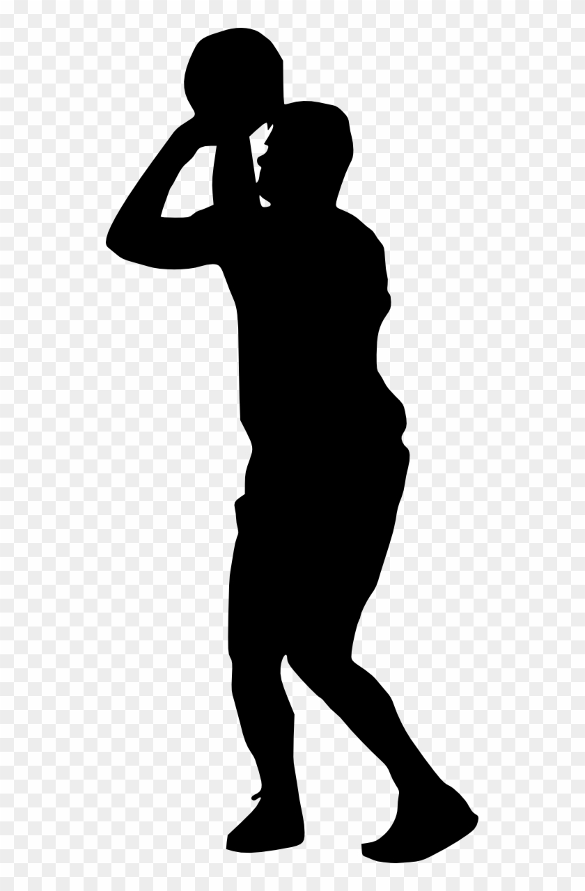 19 Basketball Player Silhouette - Basketball Player Png Clipart #35396