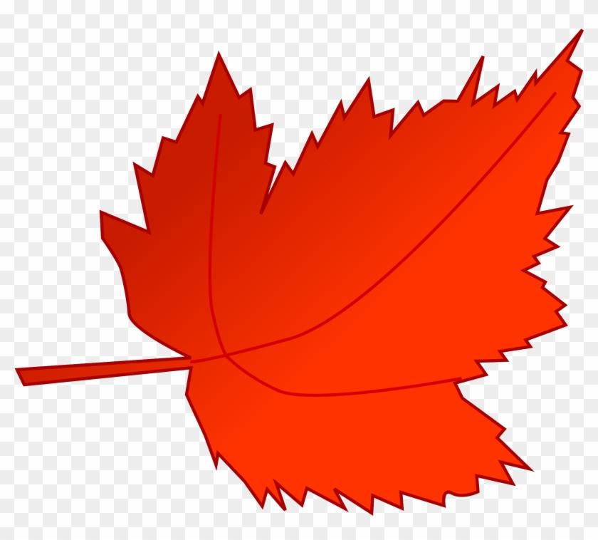 Leaves Clipart Big Leaf - Fall Leaf Clip Art #35398