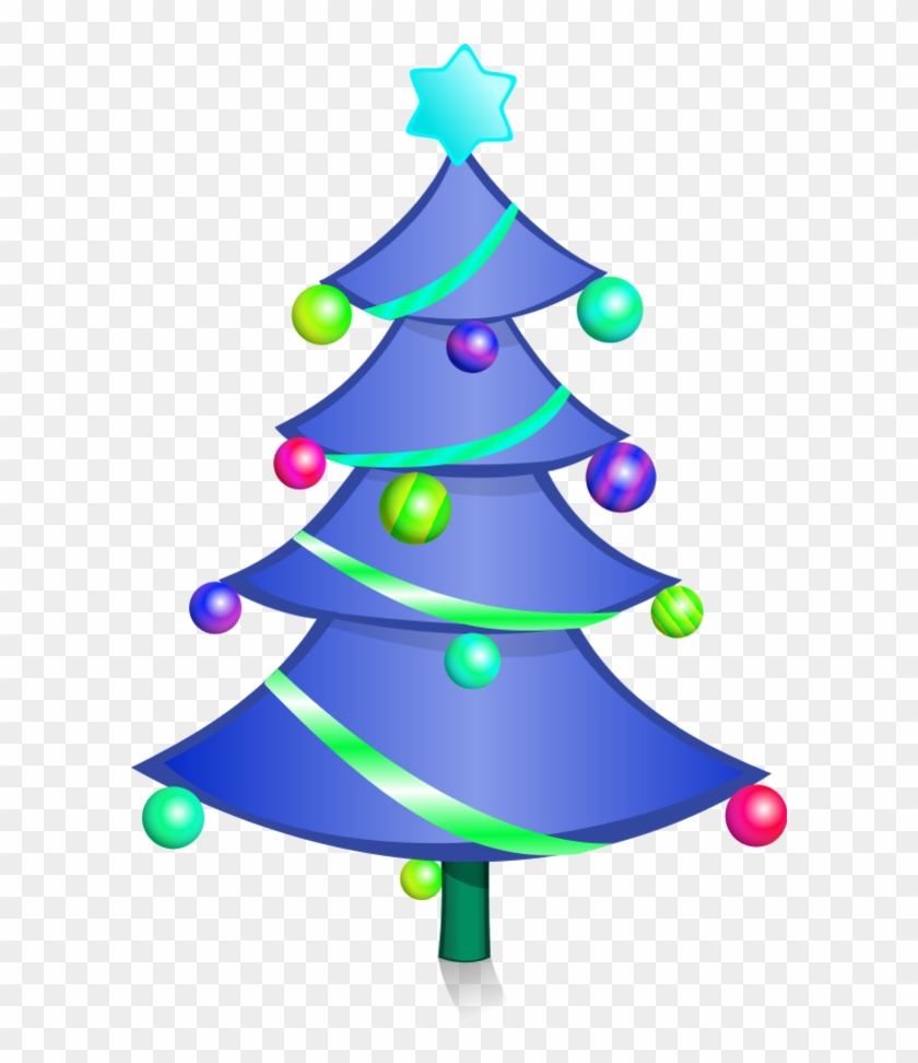 Decorated Christmas Tree Vector Clip Art Fp04ea Clipart Creative