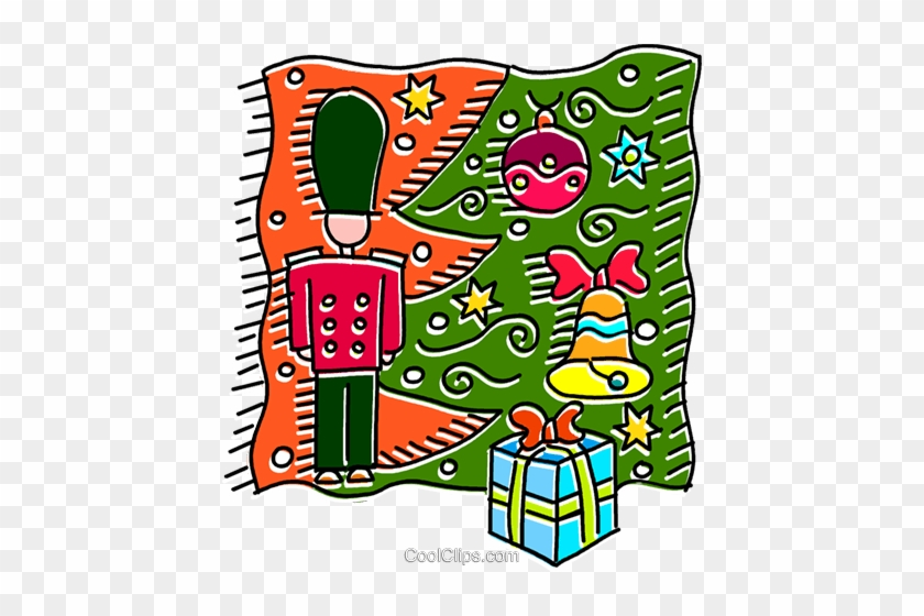 Toy Soldier Under The Christmas Tree Royalty Free Vector - Clip Art #35425