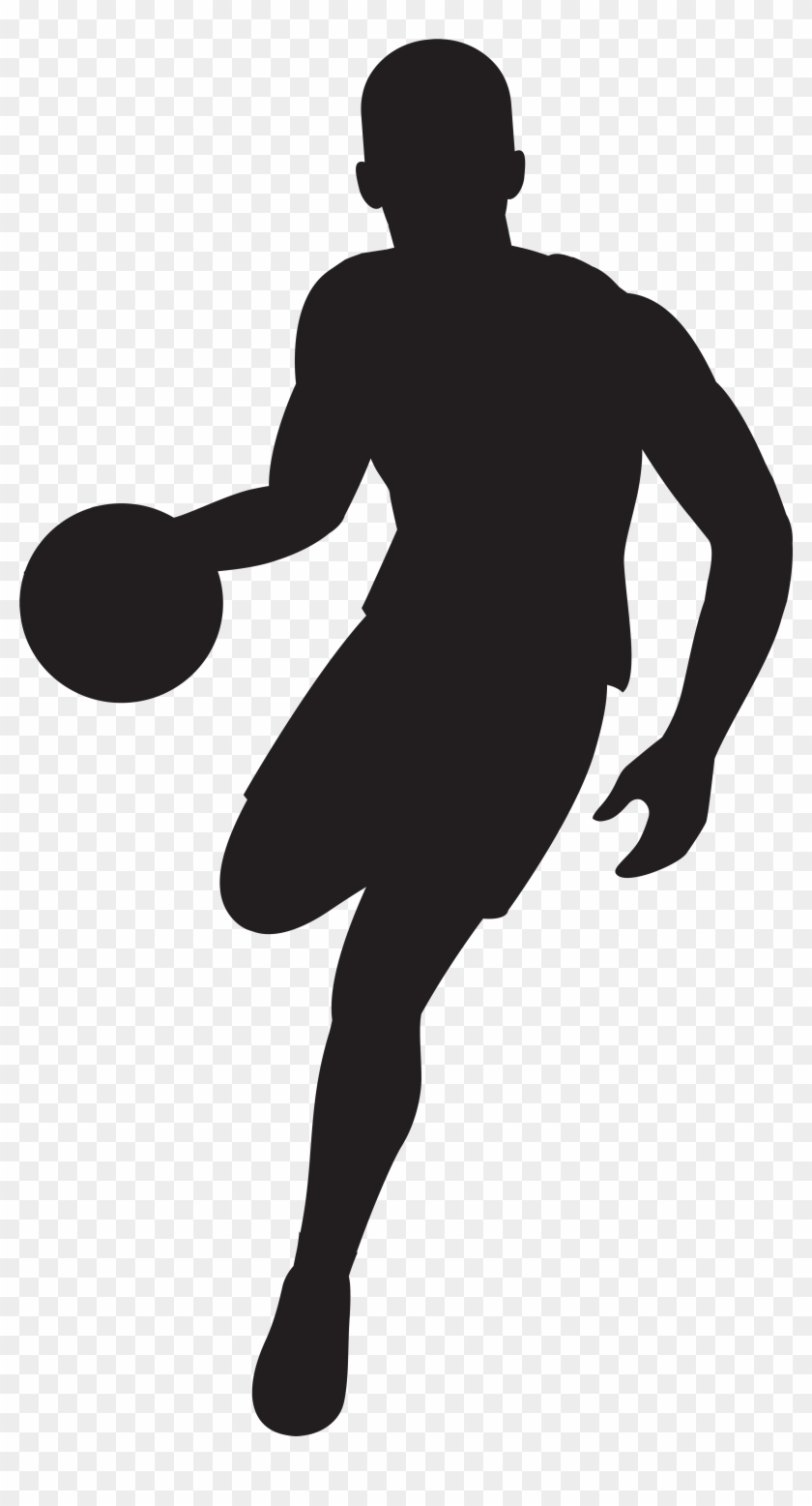 Basketball Player Silhouette Clip Art Imageu200b Gallery - Basketball Player Silhouette Free #35448