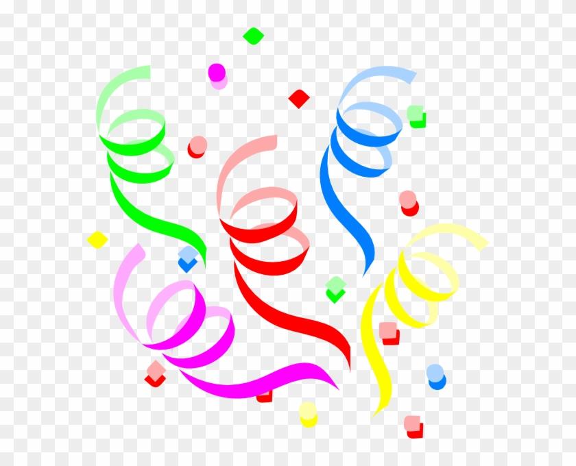 Streamers And Confetti Clipart - Confetti Clipart #35433