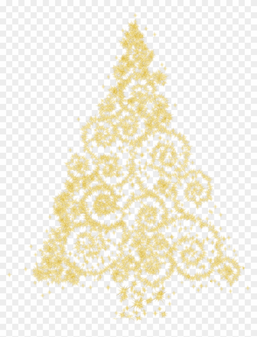 Medium Size Gold Christmas Tree Png Clip Art Best Web - Gold Christmas Tree Clipart #35447