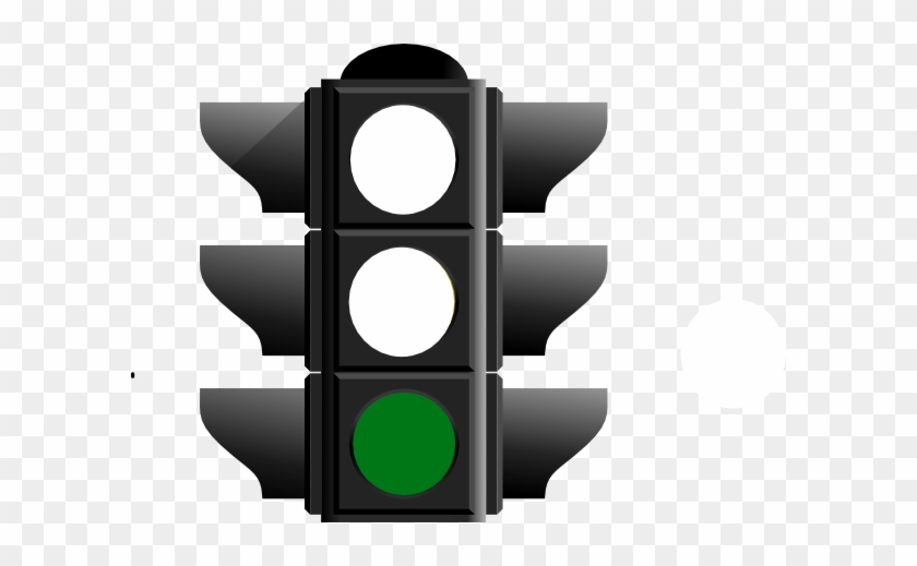 Green Christmas Tree Light - Traffic Light Clipart Green #35457