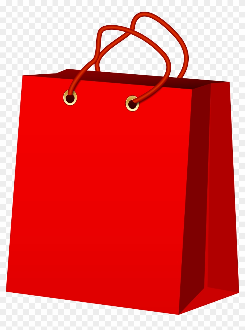 Red Gift Bag Png Clip Art - Red Gift Bag Png Clip Art #35516