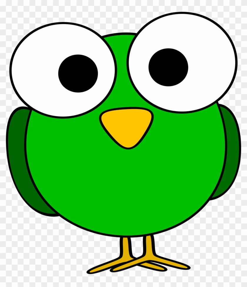 Clip Art Bird Head Clipart Free Download Best On - Cartoon With Big Eyes #35524