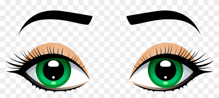 Female Eyes With Eyebrows Png Clip Art - Eyebrows Clipart #35540
