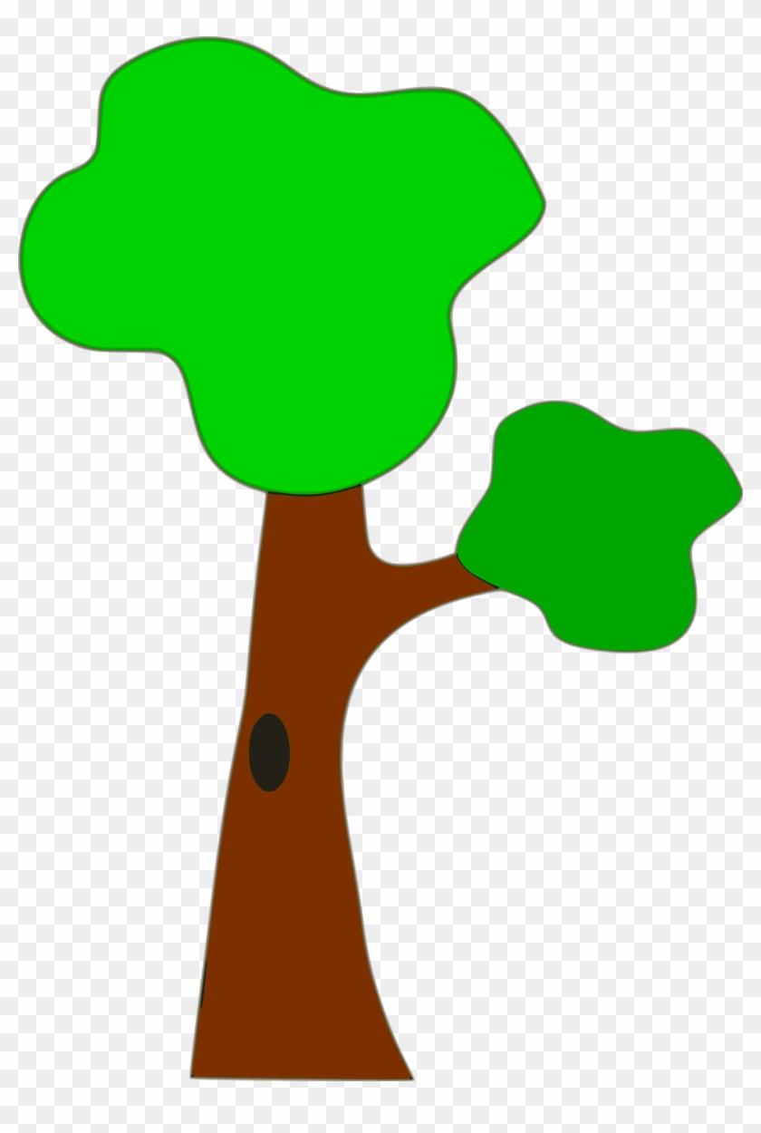 Tree Clip Art Beech - Cartoon Tree With Branch #35599