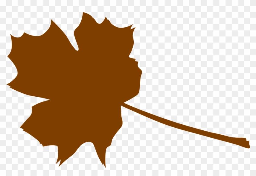 Foliage Clipart Brown Leaf - Brown Fall Leaf Clip Art #35748