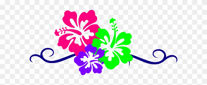Hawaiian Flower Clip Art Borders - Hawaiian Flower Clip Art #35768