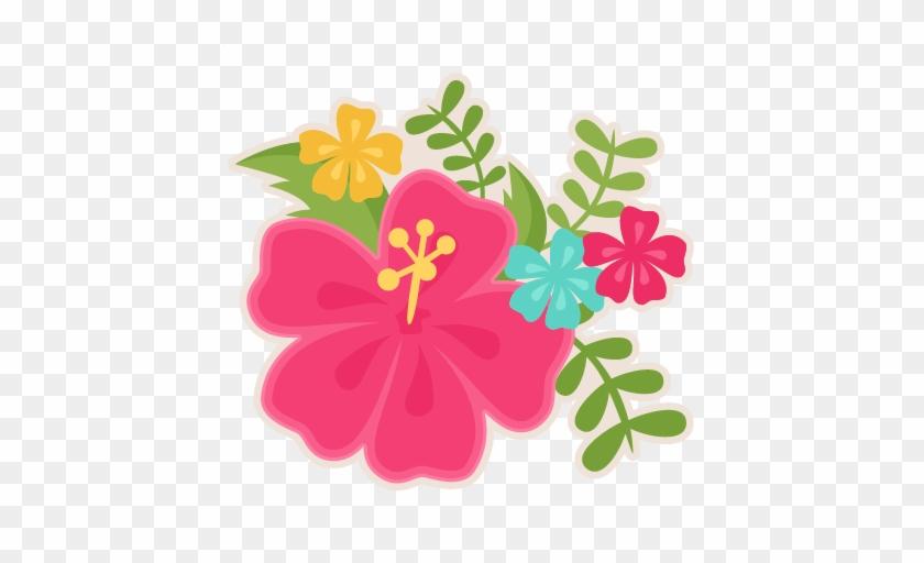 Hibiscus Svg Scrapbook Cut File Cute Clipart Files - Topo De Bolo Havaiano Scrap #35793
