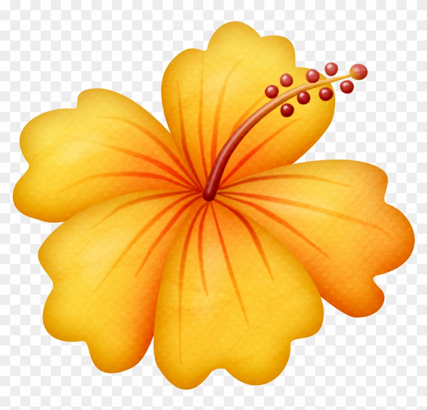Ladylony Альбом «скрап-наборы / Beach Girls» На Яндекс - Clip Art Hawaiian Flowers #35799