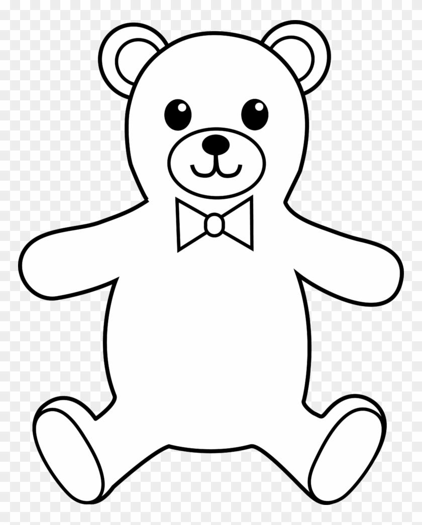 Teddy Bear Black And White Teddy Bear Black And White - Outline Of A Teddy Bear #35840