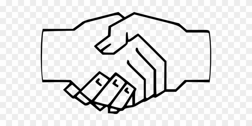 Handshake Shaking Hands Fingers Friends Fr - Handshake Clipart #204062