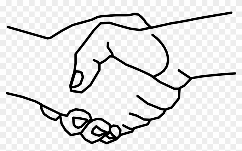 Logo Clipart Shake Hand - Hands Shaking Drawing #204098