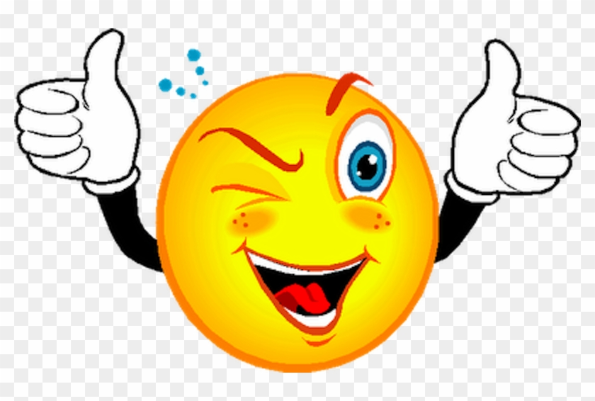 Smiley Wink Emoticon Clip Art - Smiley Face With Thumbs Up #204112