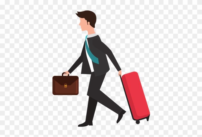 Businessman Travel Tourism Icon - Side View Men Shopping Bag Illustration #204653