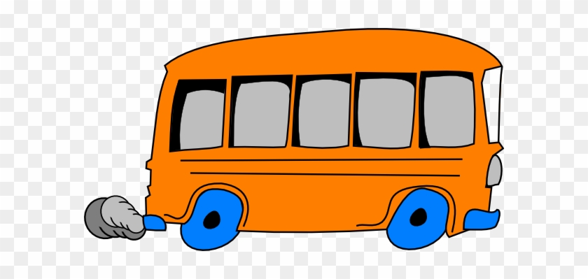 Orange And Blue Bus #204691
