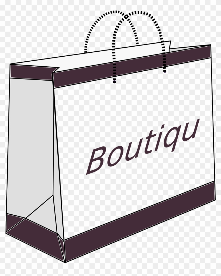Boutique Shopping Bag - Shopping Bags Clipart Black And White #204782