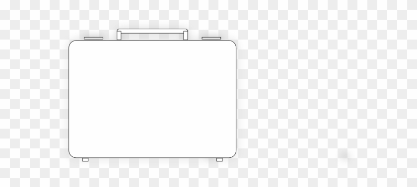 Briefcase Cliparts - White Suitcase Icon Png #204938