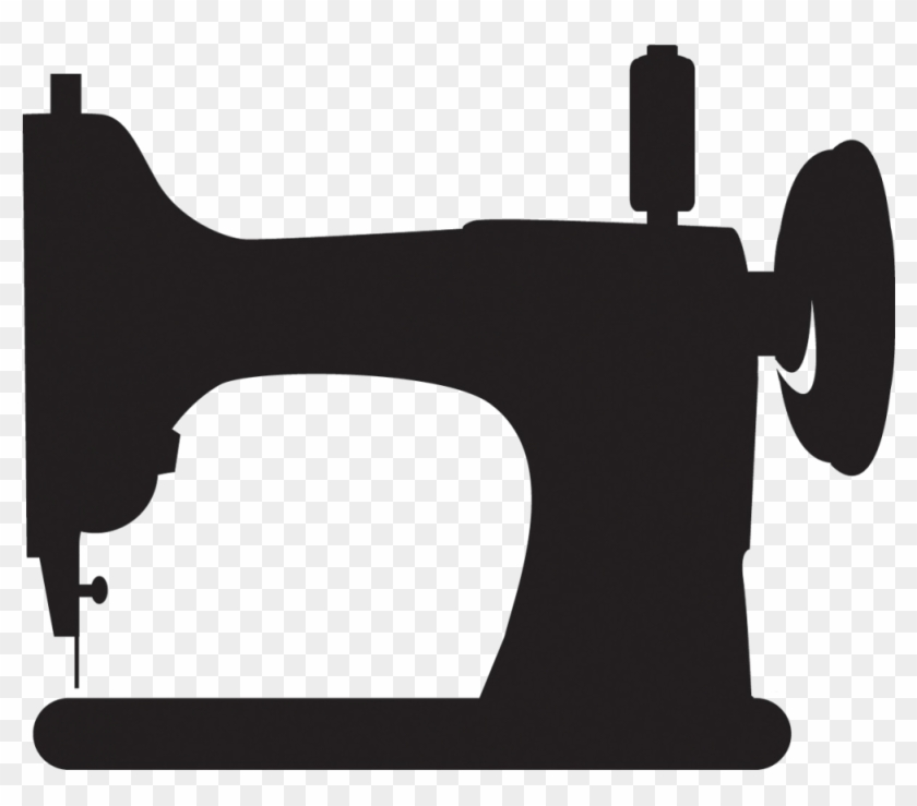 Sewing Machine Clipart Silhouette - Sewing Machine Clipart Black And White #205074