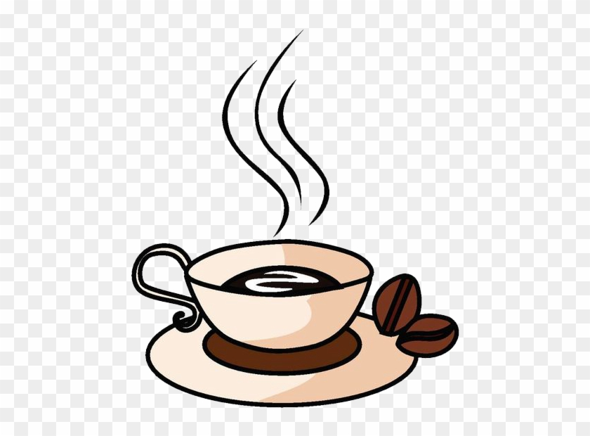Coffee Cup Cafe Drink - Hot Coffee Cartoon Png #205468