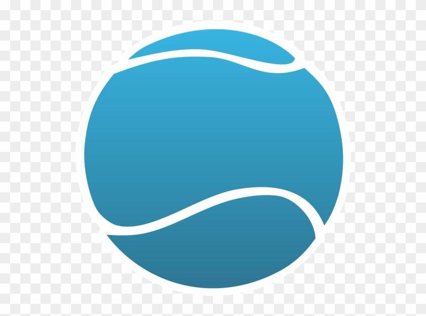 Tennis Ball Logo Blue #205536
