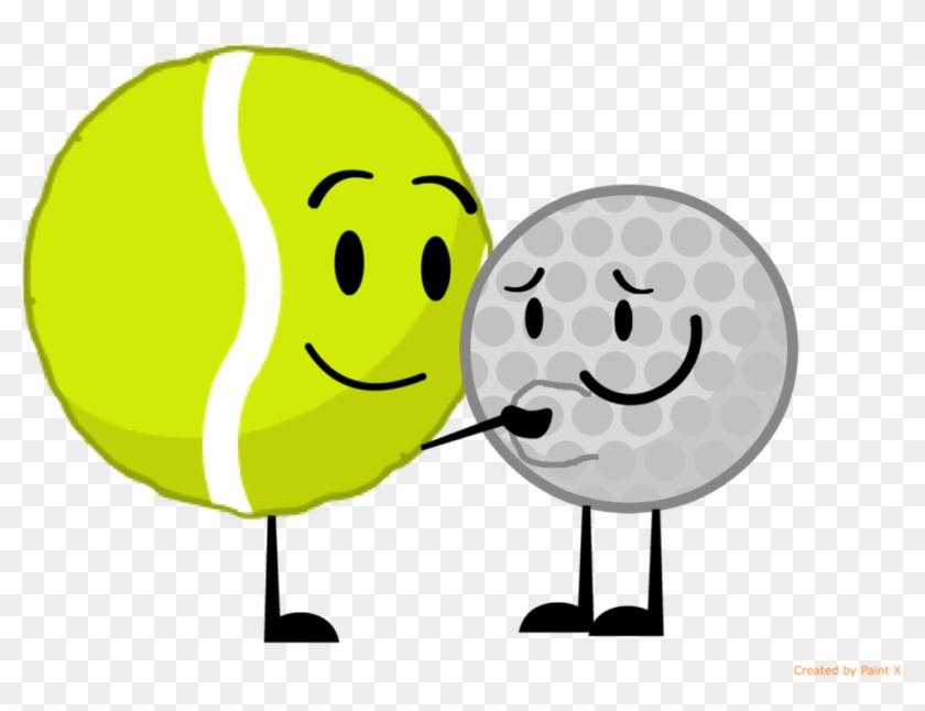 Tennis Ball Ruping Golf Ball's Stomach By Thedrksiren - Tennis Ball And Golf Ball Bfdi #205552