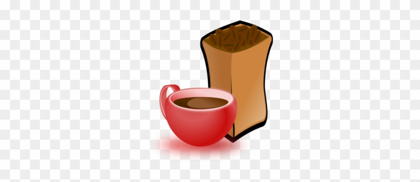 Cup Of Coffee With Sack Of Coffee Beans - Coffee Beans Clip Art #205613