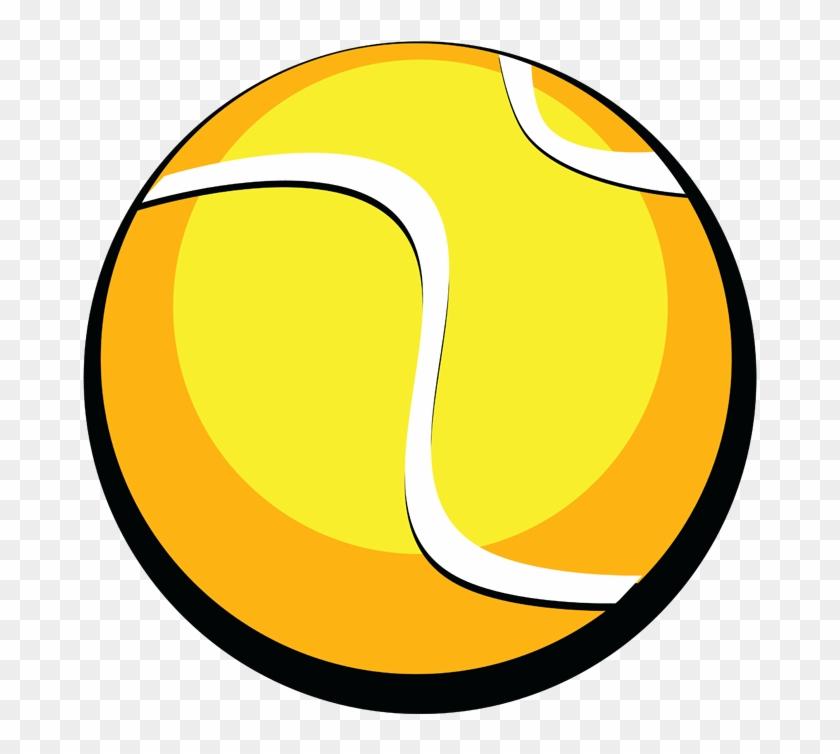 Tennis Ball Clipart Black And White - Tennis Ball #205627