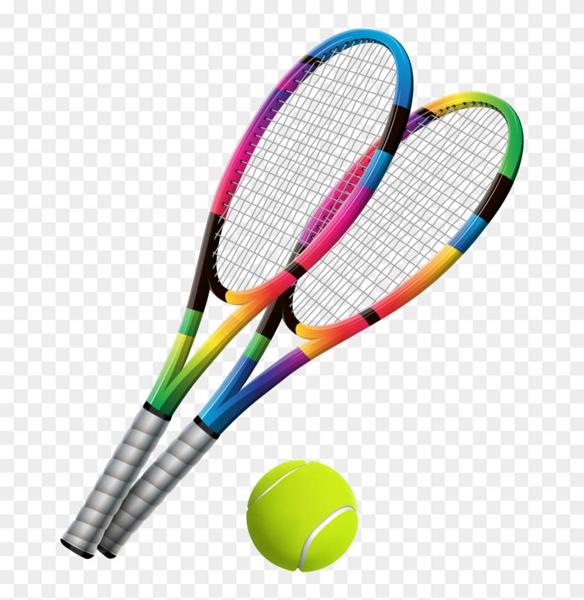 Pin Tennis Clipart - Tennis Racket And Ball Png #205681